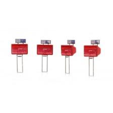 Artitec 387.476 - Tweelingbrievenbussen rood (4x)