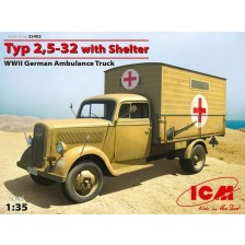 ICM 35402 - Typ 2,5-32 with Shelter, WWII German Ambulance Truck 1/35
