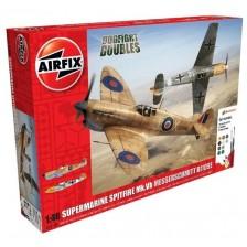 Airfix A50160 - Supermarine Spitfire MkVb and Messerschmitt Bf109E Dogfight Doubles Gift Set 1/48