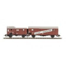 Lenz 42232-01 - DB Leig-Einheit (Leicht-Güterwagen) Gllvwh 08 + Gllh 12