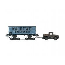 """Marklin 48822 - Rolwagen Culemeyer met Kaelble trekker + Goederenwagen G 10 """"KALDEWEI"""" - MHI"""