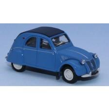 SAI 6003 - Citroën 2 CV AZLP 1958, bleu glacier, capote fermée bleu foncé et sièges bleus