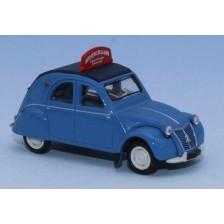 SAI 6021 - Citroën 2 CV AZLP 1958, bleu glacier, capote fermée, Auto école de la gare