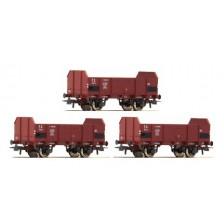 Roco 67145 - FS Set: 3-tlg. Offene Güterwagen