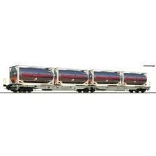 "Roco 67403 - AAE Doppeltaschen-Gelenkwagen Bauart Sdggmrs/T2000 ""Giezendanner"""