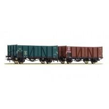 Roco 76102 - SNCB 2-teiliges Set Offene Güterwagen Bauart Villach
