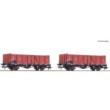 Roco 76104 - PKP 2-tlg. Set: Güterwagen Bauart Wddo 52
