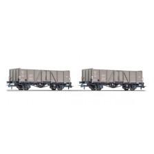Roco 76114 - CFL 2-teiliges Set Offene Güterwagen Ttouxwf