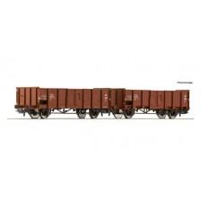 Roco 76125 - DSB 2-tlg. Set: Offene Güterwagen Bauart El