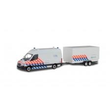 Herpa 937009 - Mercedes Benz Sprinter Politie + aanhanger (NL)