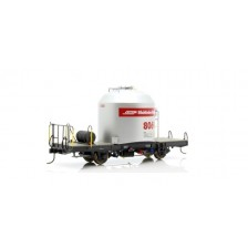 Bemo 9452133 - RhB Zementsilowagen grau mit rotem Band Bauart Uce