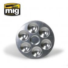 AMMO of Mig Jimenez MIG-8008 - Aluminium Pallet 6 Wells