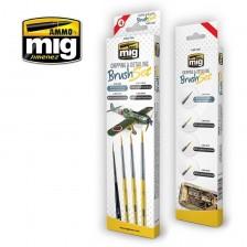 AMMO of Mig Jimenez MIG-7603 - Chipping & Detailing Brush Set