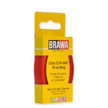 Brawa 3102 - Litze 0,14 mm², 10 m Ring, rot