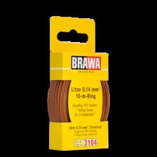 Brawa 3104 - Litze 0,14 mm², 10 m Ring, braun