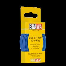 Brawa 3105 - Litze 0,14 mm², 10 m Ring, blau