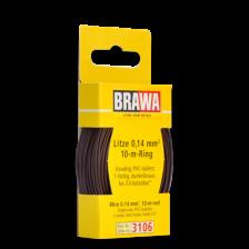 Brawa 3106 - Litze 0,14 mm², 10 m Ring, dunkelbraun