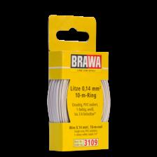 Brawa 3109 - Litze 0,14 mm², 10 m Ring, weiss