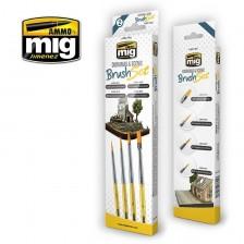 AMMO of Mig Jimenez MIG-7601 - Diorama & Scenic Brush Set