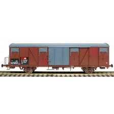 Exact-Train EX20438 - SBB Gbs Güterwagen EUROP mit Farbflächen, kleinem SBB Emblem, geripptem Dach und glatten Türen Epoche V