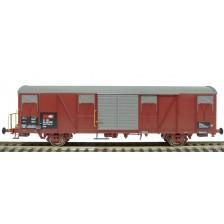 Exact-Train EX20440 - SBB Gbs Güterwagen mit kleinem SBB Emblem, geripptem Dach und Türen mit Sicken Epoche VI