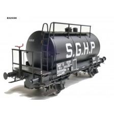 Exact-Train EX20598 - SNCF 24m3 Einheitsbauart Leichtbau-Kesselwagen S.G.H.P. Schwarz