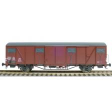 Exact-Train EX20779 - DB Güterwagen Gbs-61 Glmms Nr. 186 110 mit Farbflächen Epoche III