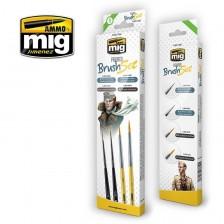 AMMO of Mig Jimenez MIG-7600 - Figures Brush Set