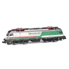 "Hobbytrain H2719 - DB Elektrolokomotive Baureihe 183 Taurus Werbelok der Hansestadt Hamburg ""Green Capital"", ""Train of Ideas"" (DC)"