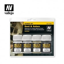 Vallejo 73.193 - Pigment Set Soot & Ashes