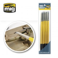 AMMO of Mig Jimenez MIG-7606 - Rubber Brush Set