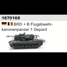 Artitec 1870168 - BRD + B Flugabwehrkanonenpanzer 1 Gepard (kit)