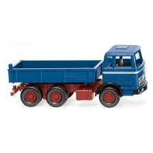 Wiking 042407 -  Flachpritschenkipper (MB) - azurblau