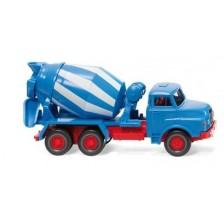Wiking 068208 - Betonmischer (MAN) - blau/weiß