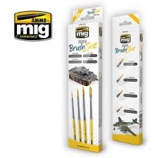 AMMO of Mig Jimenez MIG-7602 - Starter Brush Set