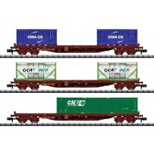 Trix 15072 - SNCF Containertragwagen-Set