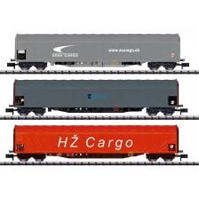 Trix 15116 - ZSSK-,CD-,HZ-Cargo 3-tlg. Schiebeplanenwagen-Set