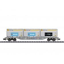 Trix 18405 - SBB Containertragwagen Bauart Sgnss