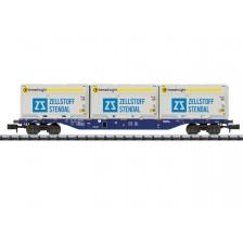 """Trix 18420 - ERR 4-achsiger Containertragwagen Bauart Sgnss """"Innofreight"""""""