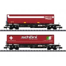 """Trix 18706 - 2-tlg. Taschenwagen-Set """"HUPAC"""""""