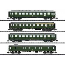 """Trix 18709 - DB 4-tlg. Personenwagen-Set """"Nahverkehr"""" (Eilzug E 4505 Tübingen - Sigmaringen)"""