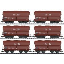 Trix 24150 - DB 6-tlg. Set Selbstentladewagen Erz IIId