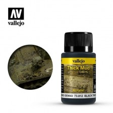 Vallejo 73.812 - Weathering Effects Thick Black Mud