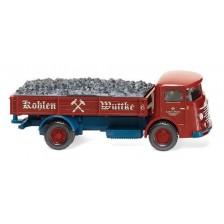 Wiking 047604 - Pritschen-Lkw (Büssing 4500) Der Kohlenhändler am einstigen Berliner Stammsitz