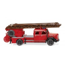 Wiking 086233 - Feuerwehr – Drehleiter DL 25h (Magirus) Eckhauber-Legende der städtischen Löschzüge